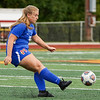 Kokomo Wildkats defender Rilyn Wonnell (38) passes the ball during the first half of the Class 3A sectional semifinal at McCutcheon High School in Lafayette on Thursday, Oct. 7, 2021.