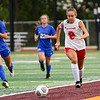 Logansport Berries defender Arlene Frutos (8) chases the ball during the first half of the Class 3A sectional semifinal at McCutcheon High School in Lafayette on Thursday, Oct. 7, 2021.