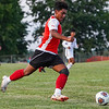 Logansport Berries forward Humberto Baez (7) makes  a run to the net during a game between the Logansport Berries and Lafayette Jeff Bronchos at Logansport High School on Thursday, Sept. 2, 2021.