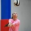Caston Comets outside hitter Isabel Scales (10) goes to hit the ball during a game at Caston High School in Fulton on Thursday, Sept. 16, 2021.