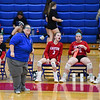Caston Comets head coach Melinda Shultz watches a play during an HNAC game at Caston High School on Tuesday, Oct. 5, 2021.