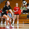 Logansport Berries' Berlyn Huff (24) hits the ball during a game between the Logansport Berries and Northwestern Tigers at the Berry Bowl in Logansport on Thursday, Aug. 19, 2021.
