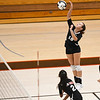 Logansport Berries' Alicia Sutton (19) goes for a kill during a game at the Berry Bowl in Logansport on Tuesday, Sept. 28, 2021.