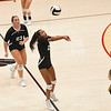 Logansport Berries' Corryn Overway (2) digs the ball during a game at the Berry Bowl in Logansport on Tuesday, Sept. 28, 2021.