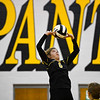 Pioneer Panthers setter Mackenzie Rogers (6)  sets the ball during a game between the Pioneer Panthers and Lewis Cass Kings at Pioneer Jr./Sr High School in Royal Center on Saturday, Aug. 14, 2021.