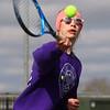 4-15-21<br /> Northwestern vs Eastern girls tennis<br /> Northwestern 1 singles McKenna Layden<br /> Kelly Lafferty Gerber | Kokomo Tribune