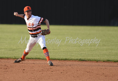 Raceland second baseman, Conner Hughes throws to first for the out against Boyd County on Tuesday at Raceland.  MARTY CONLEY/ FOR THE DAILY INDEPENDENT