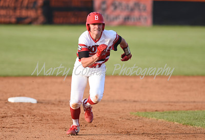 Jacob Kelley of Boyd County sprints for third and then home for the first score against Raceland on Tuesday at Raceland.  MARTY CONLEY/ FOR THE DAILY INDEPENDENT