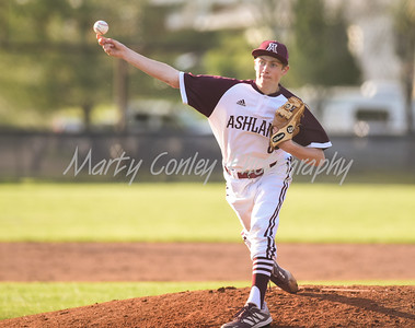 Nick Jividen of Ashland throws a pitch against Boyd County on Monday at Ashland.  MARTY CONLEY/ FOR THE DAILY INDEPENDENT