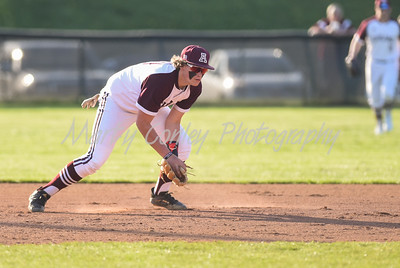 Ashland third baseman, Kaden Brewer fields a ground ball against Boyd County on Monday at Ashland.  MARTY CONLEY/ FOR THE DAILY INDEPENDENT