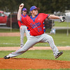 Caston Comets pitcher Pete DuVall (28) throws a pitch during the second inning of a game between the Rochester Zebras and Caston Comets on Saturday, April 17, 2021 in Rochester.