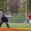 Caston Comets infielder Joey Spin (2) leads off second base as the pitcher winds up during the first inning of a game between the Rochester Zebras and Caston Comets on Saturday, April 17, 2021 in Rochester.