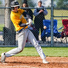 Pioneer Panthers infielder Hunter Klepinger (44) swings on a pitch during the third inning of a game between the Pioneer Panthers and Caston Comets on Thursday, April 29, 2021 in Fulton.