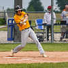 Pioneer Panthers infielder Hunter Klepinger (44) swings on a pitch during the second inning of the sectional championship between the Southwood Knights and Pioneer Panthers on Monday, May 31, 2021 in Fulton.