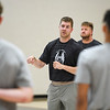 Nate Champion, head coach at Le Moyne College and former-Logansport Berry, talks to high school athletes before hosting a basketball camp at the Berry Bowl in Logansport on Tuesday, July 20, 2021.
