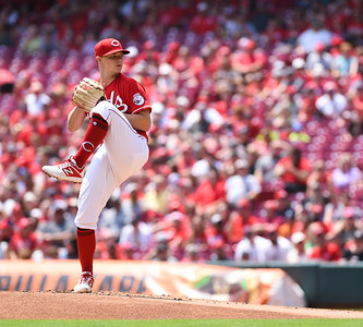Cincinnati Reds pitcher, Sonny Gray throws a pitch against the Milwaukee Brewers on Sunday afternoon at Great Amercian Ballpark.  MARTY CONLEY/ FOR THE DAILY INDEPENDENT