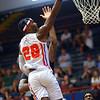 7-2-21<br /> Kokomo BobKats vs Dayton Flight<br /> Derek Hawthorne puts up a shot.<br /> Kelly Lafferty Gerber | Kokomo Tribune