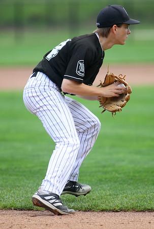 7-17-21 Kokomo Post 6 baseball Jacob Ward fields the ball. Kelly Lafferty Gerber | Kokomo Tribune