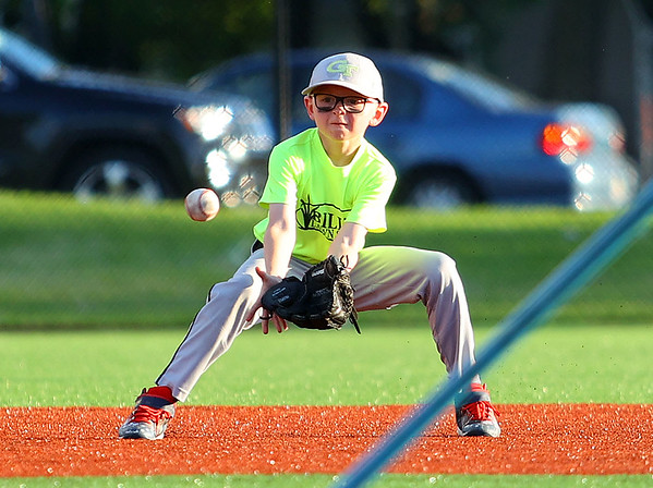 Russiaville's All-Seasons Contracting defeated Greentown's Bill's Lawn Care 12-2 for the Rookie Tournament Championship at Championship Park on Wednesday, June 9, 2021.<br /> Kelly Lafferty Gerber   Kokomo Tribune
