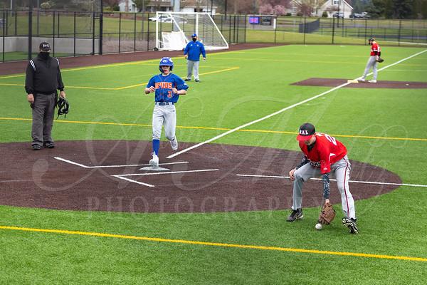 Ridgefield HS JV Baseball vs RAL Long HS Jacks.RHS wins 13-12.