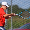9-1-21<br /> Western vs Cass boys tennis<br /> Cass 1 singles Jack Salyers<br /> Kelly Lafferty Gerber | Kokomo Tribune