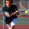 9-1-21<br /> Western vs Cass boys tennis<br /> Western 1 doubles Conner Beeler<br /> Kelly Lafferty Gerber | Kokomo Tribune
