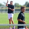 9-1-21<br /> Western vs Cass boys tennis<br /> Western 1 doubles Parker Dean and Conner Beeler.<br /> Kelly Lafferty Gerber | Kokomo Tribune
