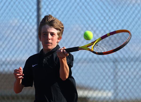 9-1-21<br /> Western vs Cass boys tennis<br /> Western 2 singles Miles Bowley<br /> Kelly Lafferty Gerber | Kokomo Tribune