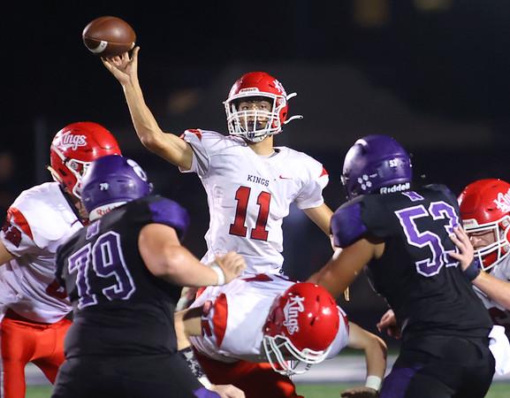 9-17-21   Northwestern vs Cass football Cass' LJ Hillis throws a pass. Kelly Lafferty Gerber | Kokomo Tribune