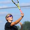 9-1-21<br /> Western vs Cass boys tennis<br /> Western 1 singles Dylan Collins<br /> Kelly Lafferty Gerber | Kokomo Tribune