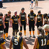 Pioneer Panthers players pray before the Class 2A state championship between the Pioneer Panthers and Sullivan Golden Arrows on Saturday, June 12, 2021 in Greenwood.