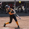 Pioneer Panthers infielder Crystabelle Blickenstaff (10) hits an hits an RBI single during the second inning of the Class 2A state championship between the Pioneer Panthers and Sullivan Golden Arrows on Saturday, June 12, 2021 in Greenwood.