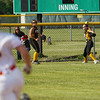 Pioneer Panthers outfielder Kylie Farris (2) throws the ball in as Wheeler Bearcats catcher Kyla Chevalier (2) heads to second base during the first inning of the regional championship between the Wheeler Bearcats and Pioneer Panthers on Tuesday, June 1, 2021 in Valparaiso.