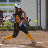 Pioneer Panthers infielder Hailey Cripe (12) hits the ball during the first inning of the regional championship between the Wheeler Bearcats and Pioneer Panthers on Tuesday, June 1, 2021 in Valparaiso.