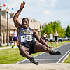 Pioneer's Addai lewellen competes in the long jump during the boys track and field sectional at Kokomo High School on Thursday, May 20, 2021 in Kokomo.