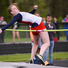 Lewis Cass' Ashlin Collins competes in the high jump during the girls track and field sectional at Western High School on Tuesday, May 18, 2021 in Russiaville.