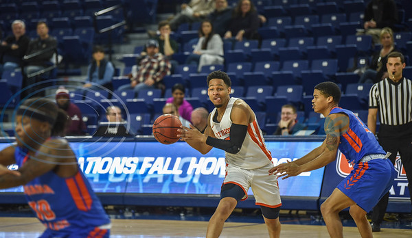 Junior Jared Jenkins (3) of UT Tyler prepares to pass the ball during a game against Louisiana College on Saturday, February 16 at Louise Herrington Patriot Center. (Jessica T. Payne/Tyler Morning Telegraph)