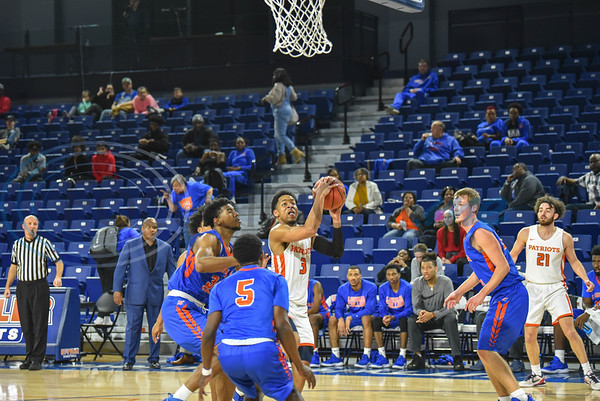 Jared Jenkins (3) of UT Tyler goes for a lay up during a game against Louisiana College on Saturday, February 16 at Louise Herrington Patriot Center. (Jessica T. Payne/Tyler Morning Telegraph)