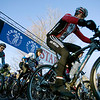 Record-Eagle/Keith King<br /> Riders start in Kalkaska Saturday, November 6, 2010 for the 21st annual Iceman Cometh Challenge bicycle race.
