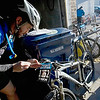 Record-Eagle/Keith King<br /> Lou Dykstra, of Grand Rapids, displays his number on his bike Saturday, November 6, 2010 prior to the start of the 21st annual Iceman Cometh Challenge bicycle race.