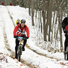 Record-Eagle/Keith King<br /> Curt Potocki, right, of Romeo, and Mike Franskoviak, of Clarkston, compete Saturday, November 6, 2010 in the 21st annual Iceman Cometh Challenge bicycle race.