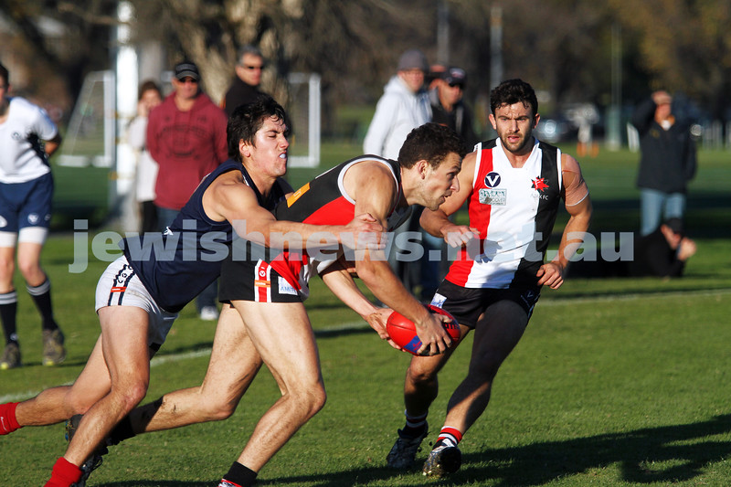 22-6-13. AJAX lost to  Old Melburnians by 1 point at Gary Smorgon Oval. Michael Shafar. Photo: Peter Haskin