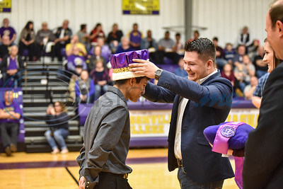 Angel Arredondo was named Homecoming King during halftime of the Women's Jacksonville College Basketball game against Trinity Valley on Saturday, February 2. (Jessica T. Payne/Tyler Morning Telegraph)