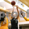 Panola College freshman Daria Eremeeva (2) shoots the ballduring a Region XIV college basketball game at Tyler Junior College in Tyler, Texas, on Wednesday, Feb. 22, 2017. The Panel College Ponies beat the Tyler Junior College Apaches 75-70. (Chelsea Purgahn/Tyler Morning Telegraph)