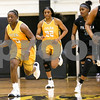 Tyler Junior College sophomore Nautica Grant (0) dribbles the ball down the court during a Region XIV college basketball game at Tyler Junior College in Tyler, Texas, on Wednesday, Feb. 22, 2017. The Panel College Ponies beat the Tyler Junior College Apaches 75-70. (Chelsea Purgahn/Tyler Morning Telegraph)
