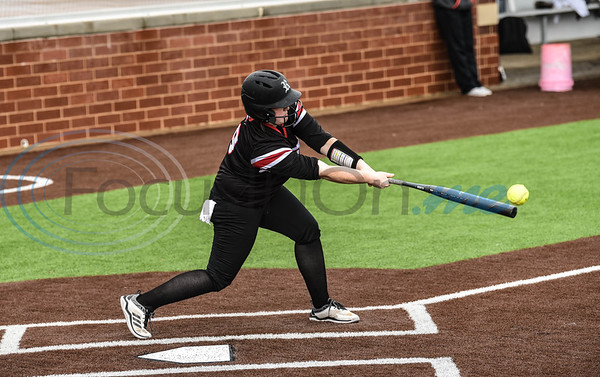 Emma Shaw (19) of Rusk connects with a pitch during the Tyler Tournament softball game against Brook Hill. The tournament took place at Whitehouse High School on Saturday, February 23. (Jessica T. Payne/Tyler Morning Telegraph)