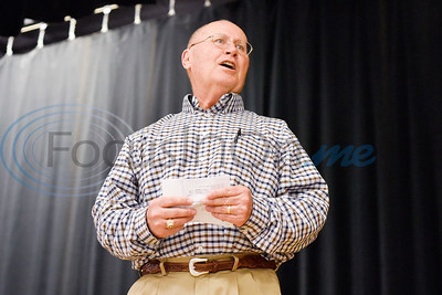 Lindale Athletic Director Mike Maddox speaks during a National Signing Day event at Lindale High School in Lindale, Texas, on Wednesday, Feb. 6, 2019. (Chelsea Purgahn/Tyler Morning Telegraph)