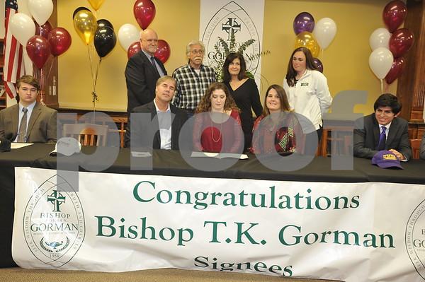 Bishop T.K. Gorman Athletes Signing