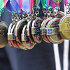 Record-Eagle/Jan-Michael Stump<br /> The 29th annual Bayshore Marathon medals.