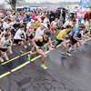 Record-Eagle/Jan-Michael Stump<br /> Runners start the 10k in Saturday's 29th annual Bayshore Marathon